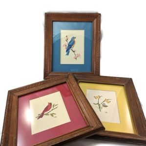 Three Cross Stitch Pictures